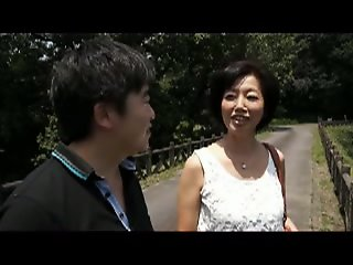 Japanese mom and stepson..